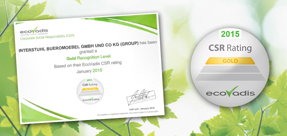 EcoVadis - Gold certification for Interstuhl